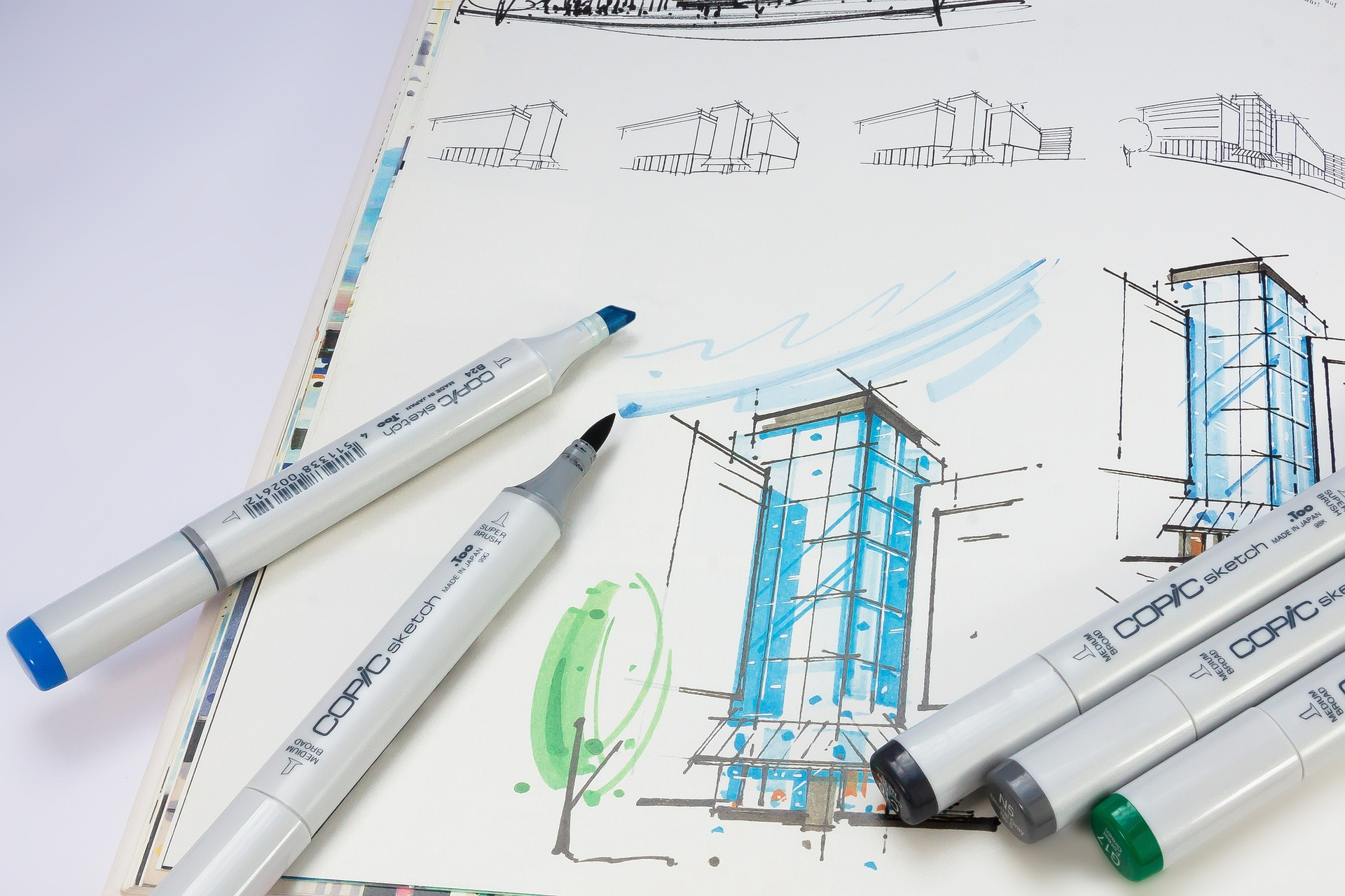 concept drawing of building for Houston LEED construction project