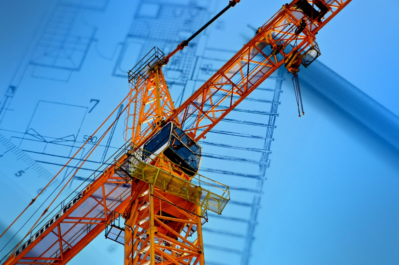 scaffolding and building blueprint for Houston design build